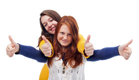 teens-thumbs-up-sign-teen-girls-smiling-isolated-35210120